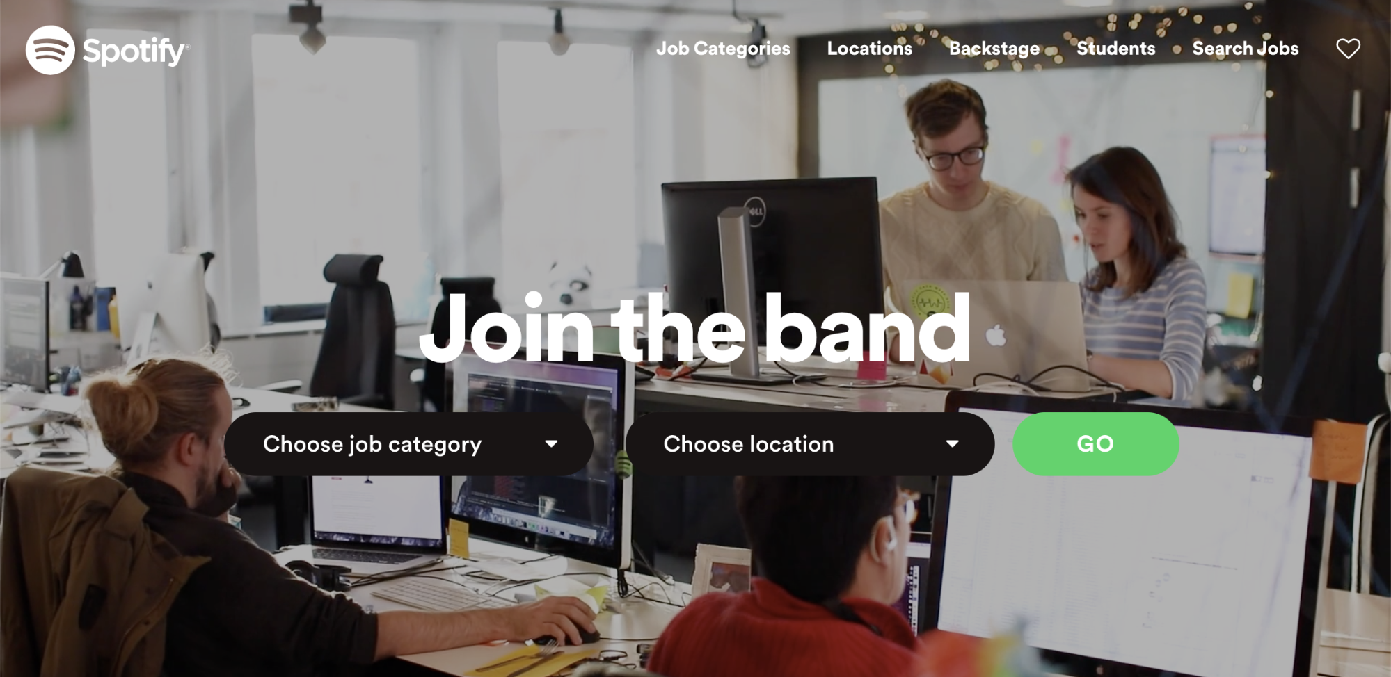 Spotify's employer brand is a play on the platform's music streaming services.