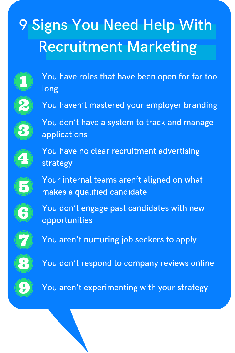 9 Signs You Need Help With Recruitment Marketing